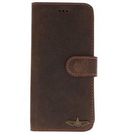 Galata Book case Huawei Mate 20 Pro echt leer antiek bruin
