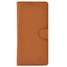 MP Case Classic luxe echt leer iPhone Xr booklet saddle bruin