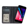 Galata Echt leer wallet case 2in1 voor iPhone 7/8 zwart