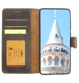 Galata Echt leer bookcase Huawei P30 mokka bruin