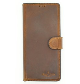 Galata Echt leer bookcase iPhone 5/5s/SE antiek bruin