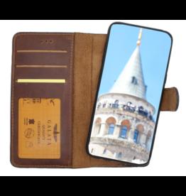 Galata Echt leer 2in1 Samsung Galaxy S10 bookcase antiek bruin