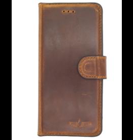 Galata Echt leer bookcase Samsung Galaxy Note 9 antiek bruin