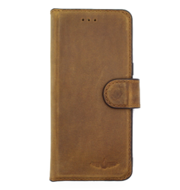 Galata Echt leer bookcase Samsung Galaxy S9+Plus roestbruin