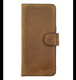 Galata Echt leer bookcase iPhone 5/5s/SE roestbruin
