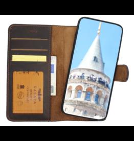 Galata Echt leer wallet case 2in1 voor iPhone 7/8 mokka bruin
