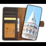 Galata Echt leer wallet case 2in1 voor iPhone 7 Plus / 8 Plus - mokka bruin