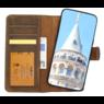 Galata Echt leer wallet case 2in1 voor iPhone 7 Plus / 8 Plus - roestbruin