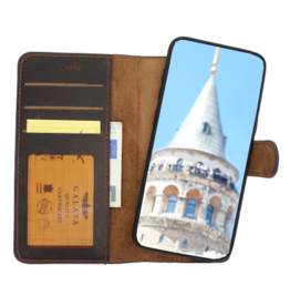 Galata Echt leer 2in1 Samsung Galaxy S10 bookcase mokka bruin