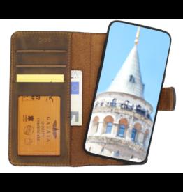 Galata Echt leer 2in1 Samsung Galaxy S10 bookcase roestbruin