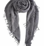 sjaal SjaalMania Cashmy 100% Grey Melee