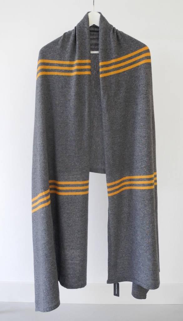 Sjaal SjaalMania Cosy Chic Pinstripe Grey/Pantone