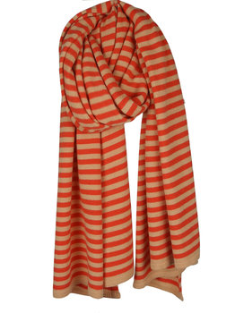 Cosy Short Stripes Coral - Poppy