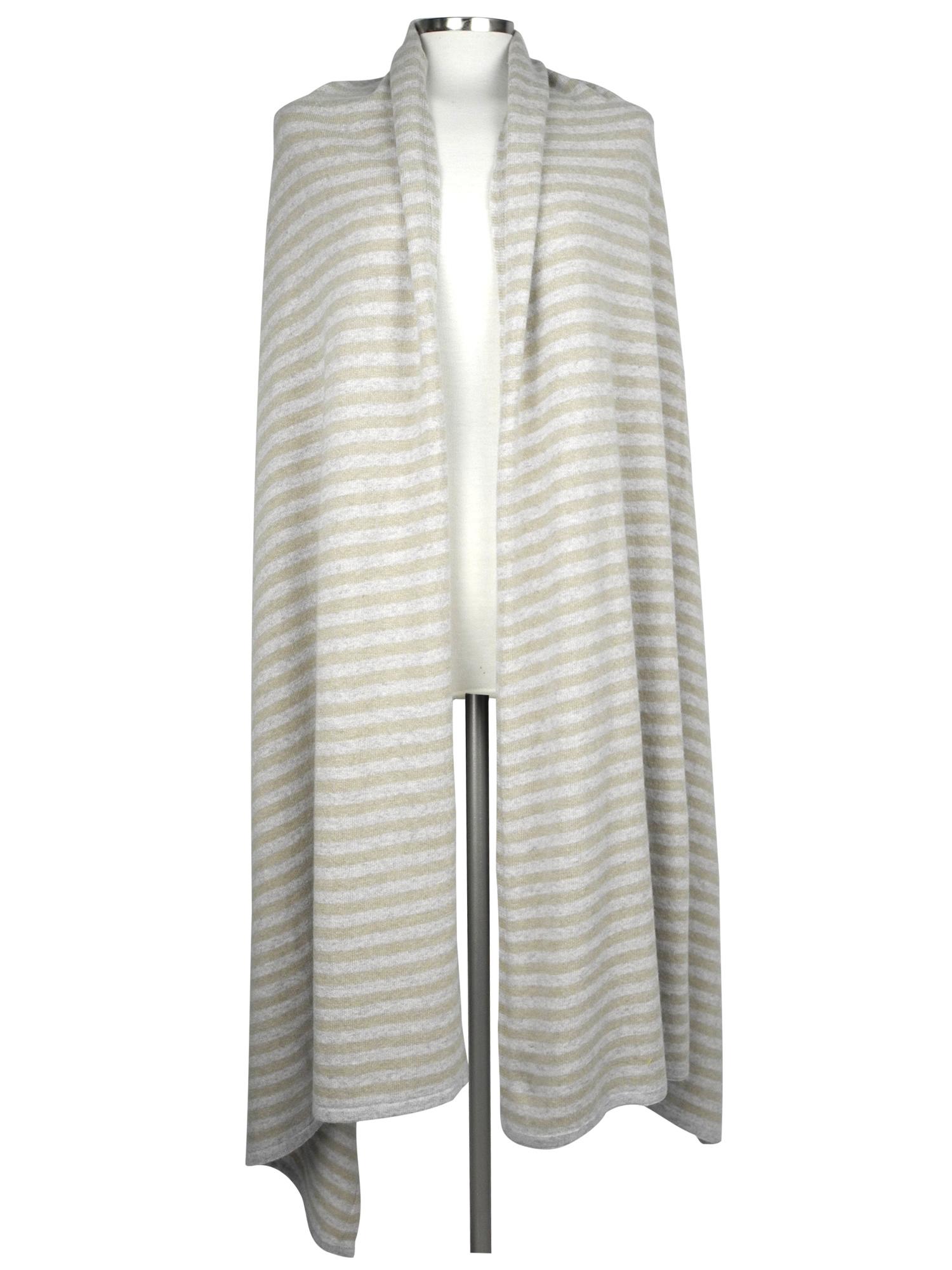 Sjaal SjaalMania Cosy Chic Stripes Grey - Sand