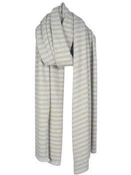Sjaal SjaalMania Cosy Chic Stripes Grey - Sand