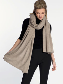 Sjaal SjaalMania Cosy Chic Soft Taupe Melee
