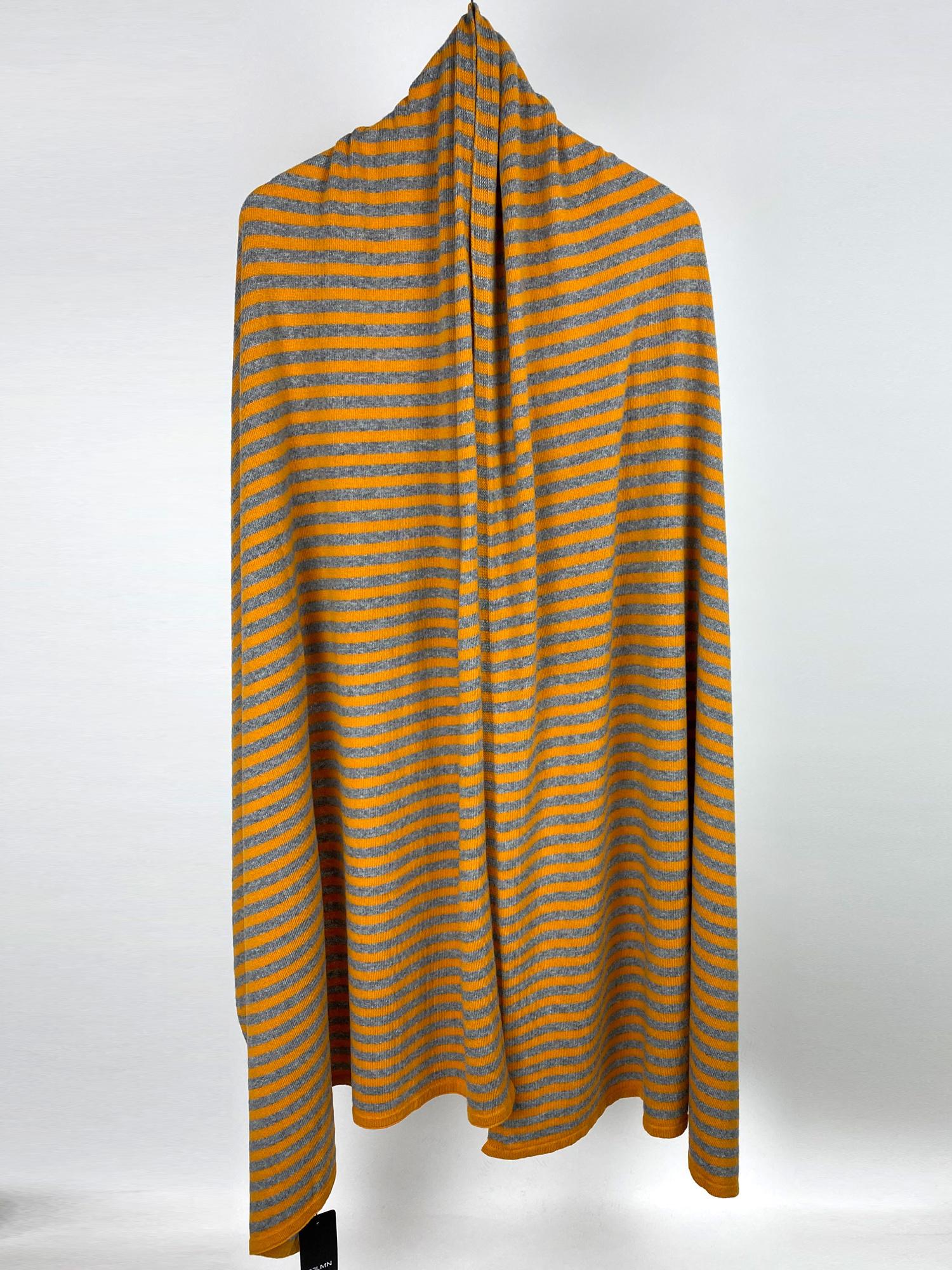 Sjaal SjaalMania Cosy Chic Stripes Pantone - Mid Grey Melee