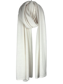 SJLMN - The Travel Light Wrap - Creamy White