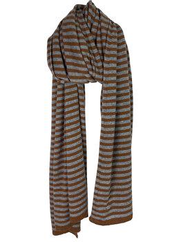 Sjaal SjaalMania Cosy Chic Stripes Toffee - Mid Grey Melee