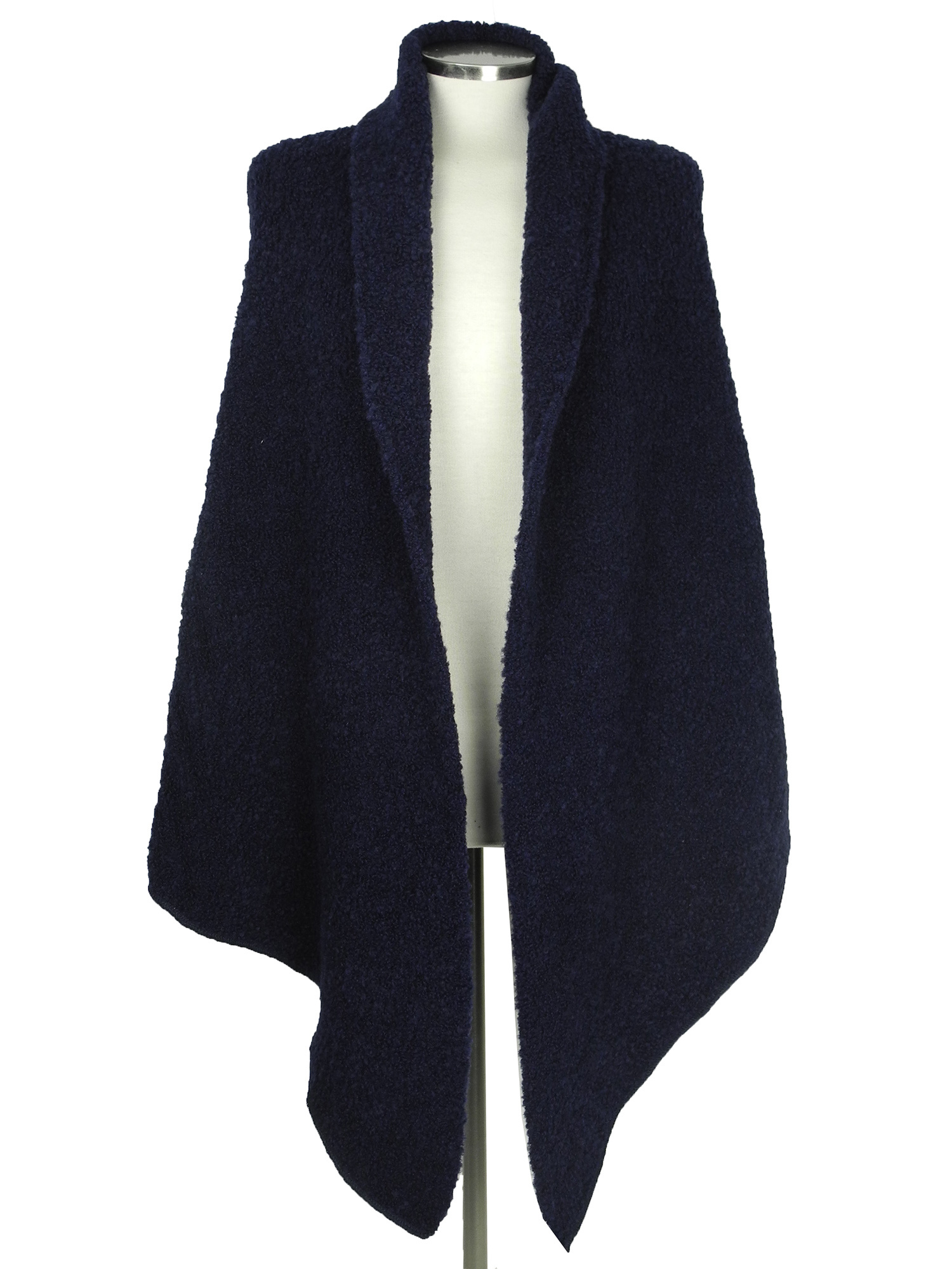 SjaalMania Big Wrap Boucle Navy