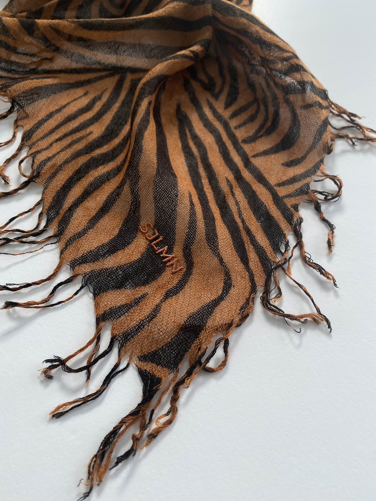 sjaal SjaalMania Cashmy Zebra Black-Brown