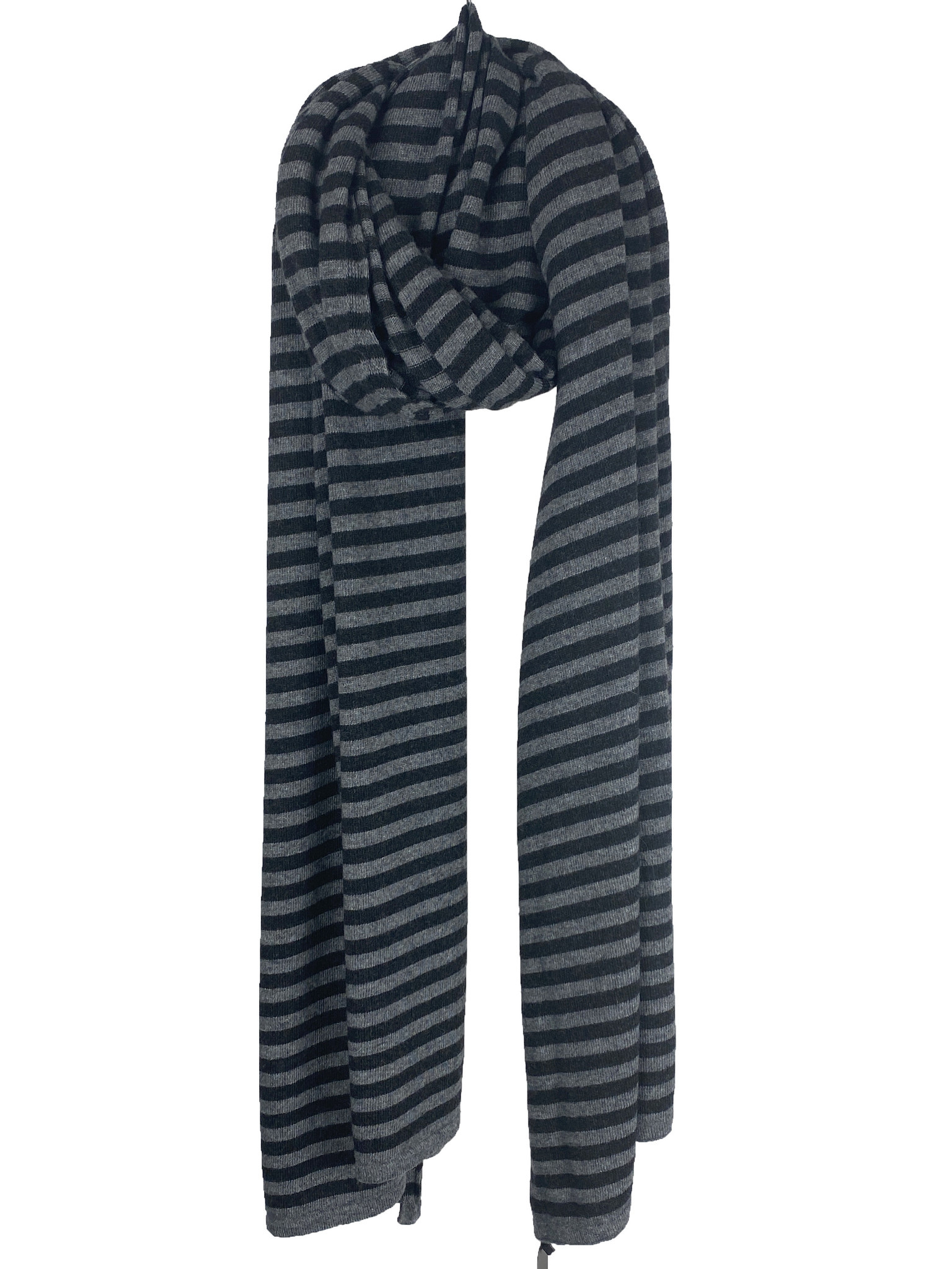 Cosy Chic Stripes Mid Grey Melee - Black