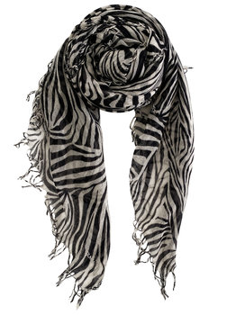 sjaal SjaalMania Cashmy Zebra Black-Neutral