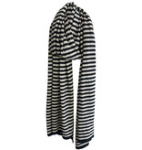 Cosy Travel Light Wrap Stripes - Black Melee - Sand