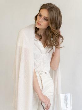 Sjaal SjaalMania Cosy Eco Cotton Off White