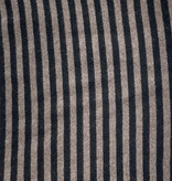 Cosy Short Stripes Solid Black - Taupe Melee