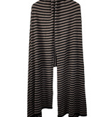 Cosy Chic Stripes Solid Black - Taupe Melee