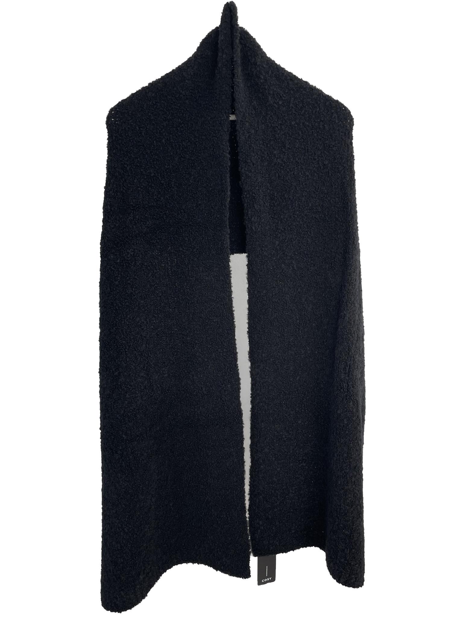 Cosy Bouclé Sjaal XL Solid Black
