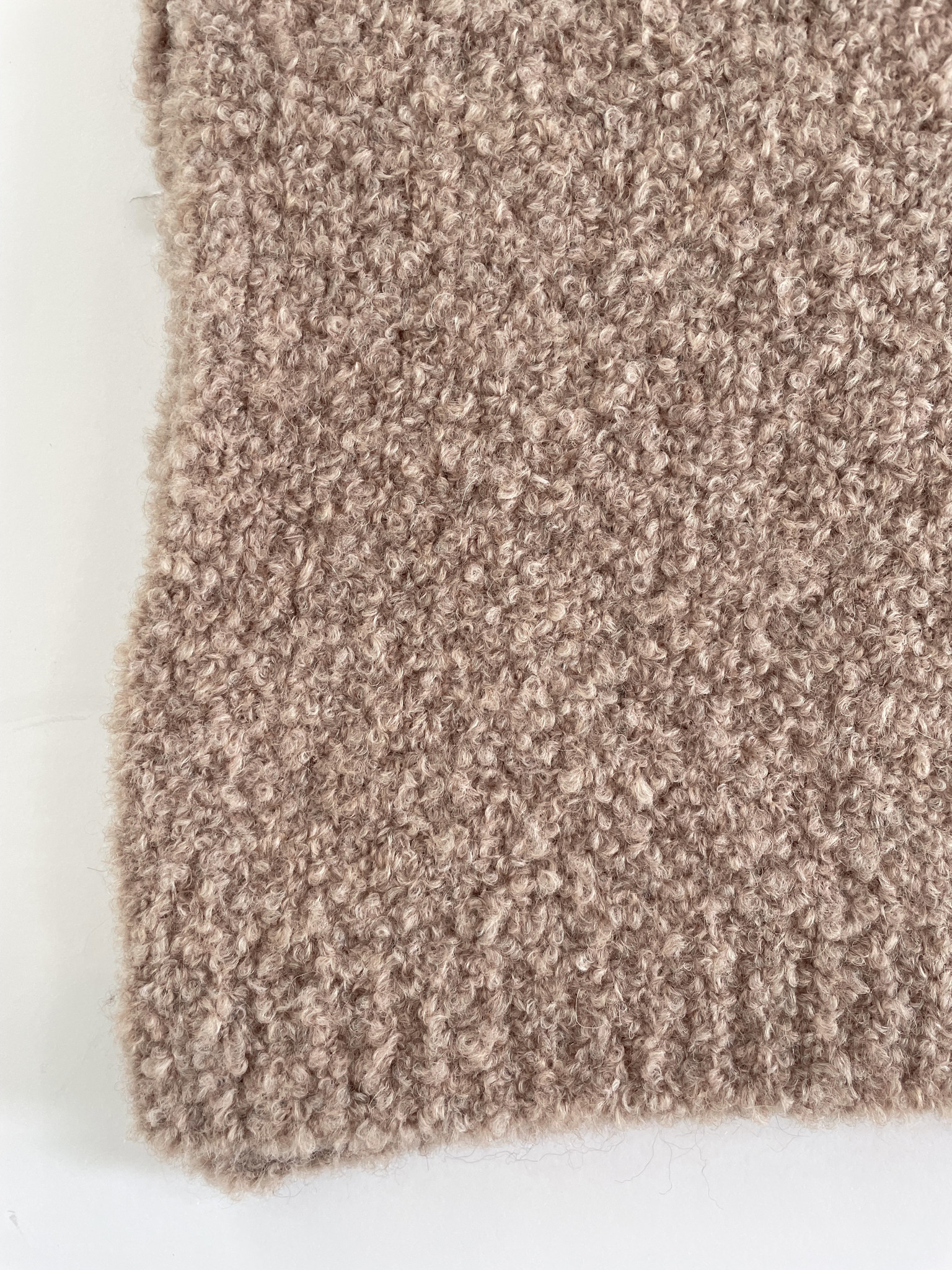 Cosy Bouclé Sjaal XL Soft Taupe