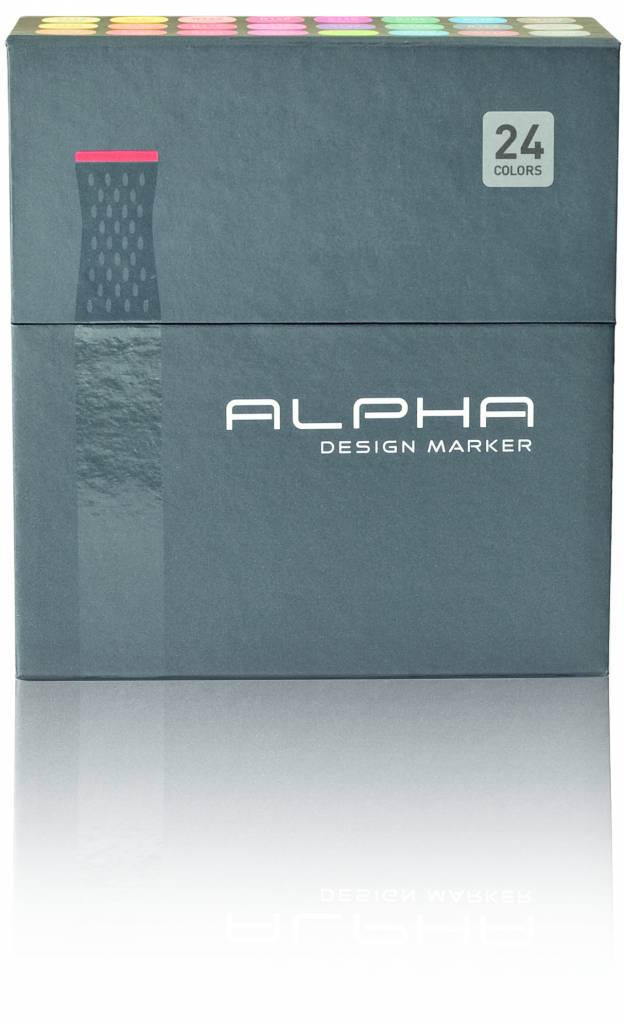 Alpha DESIGN MARKER 24er Main Color Set