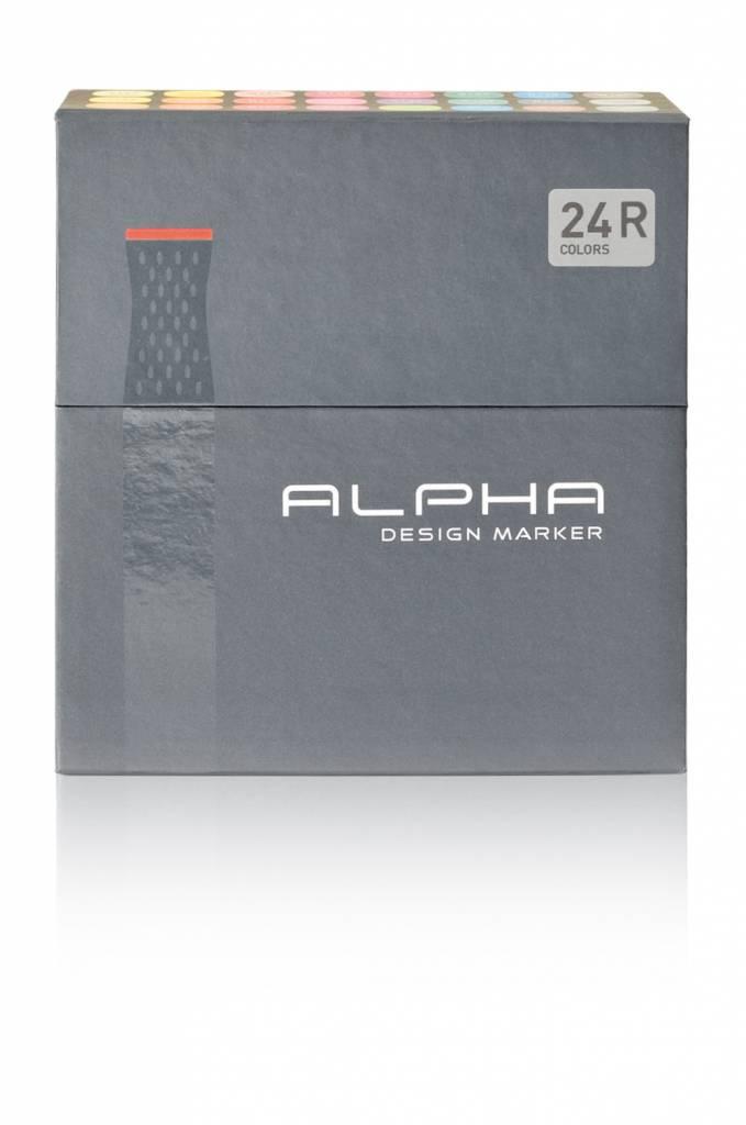Alpha DESIGN MARKER 24er R Color Set