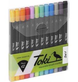 Toki Marker Aquarelle Brush Marker 12er Set Set 1