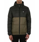 Iriedaily STAGGER HOOD Jacket -black olive