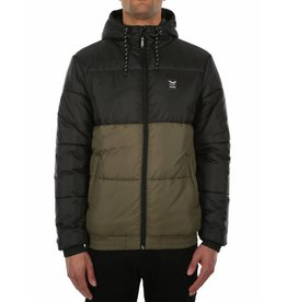 Iriedaily STAGGER HOOD Jacket - black olive