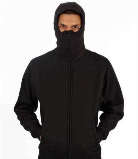 Graffiti Ninja Hooded Zipper schwarz