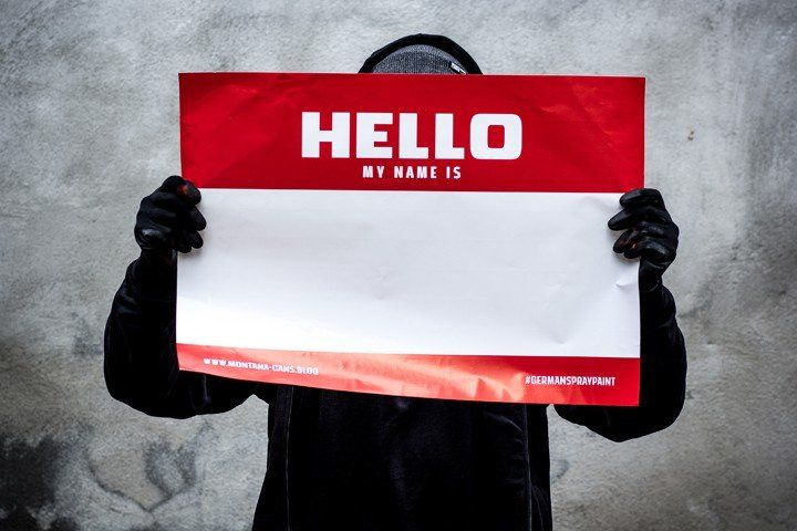 Hello My Name Sticker A2