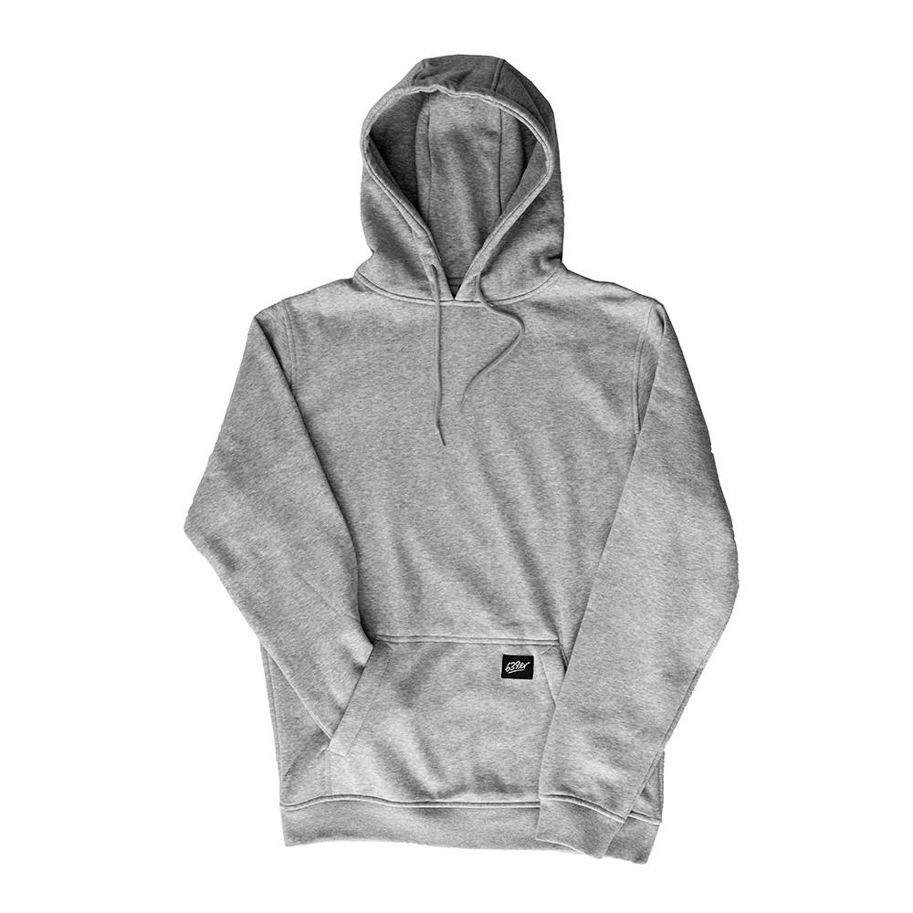 639ER LOGO PATCH HOODIE heather grey