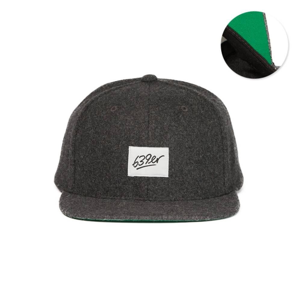 639ER WOOL SNAPBACK CAP dark grey
