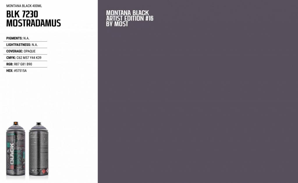 Montana BLACK ARTIST EDITION #16 MOST