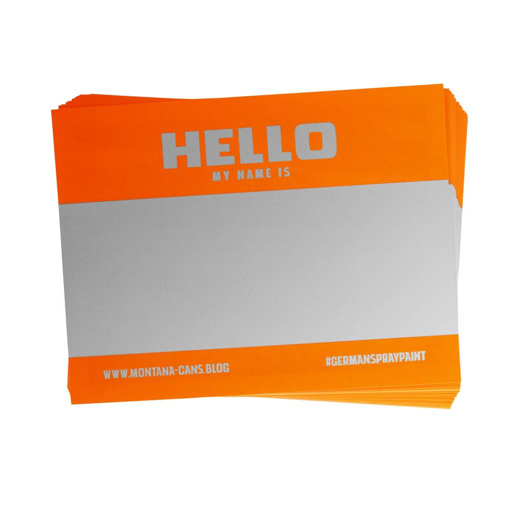 Montana HELLO MY NAME IS Sticker Pack - NEON