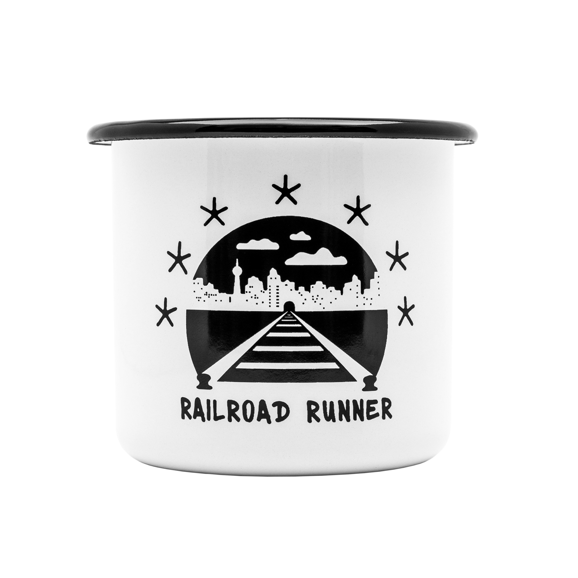 Montana Cans Emaille Tasse – Railroad Runner 300ml