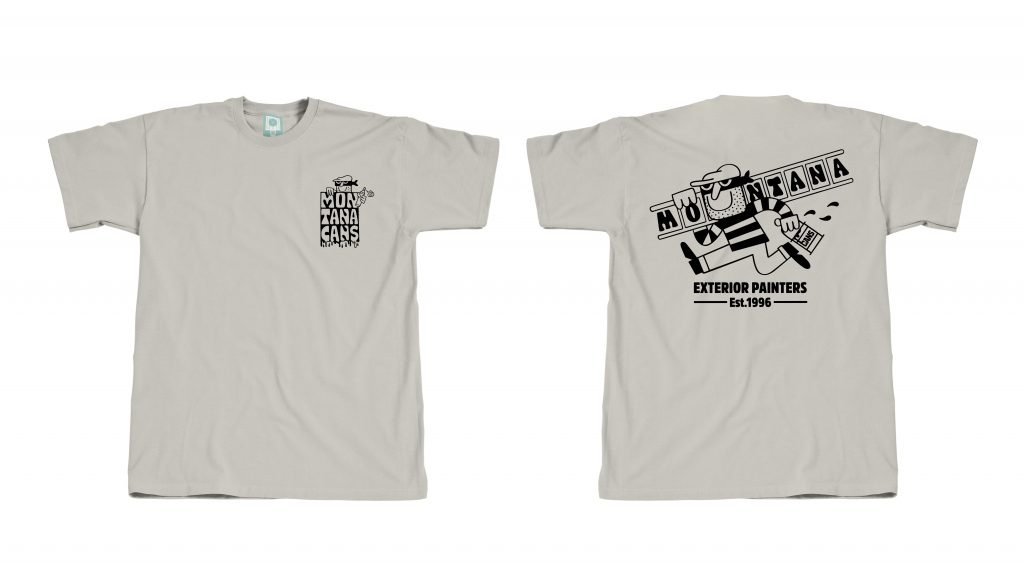 Montana CANS T-SHIRT Exterior Painters BY 45RPM -Grey