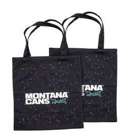 Montana Typo-Logo+Stars Cotton Bag - Black