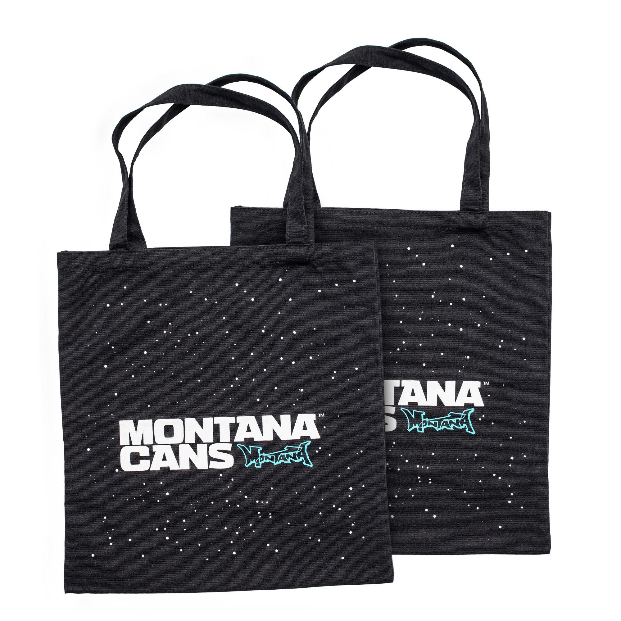 Montana Typo-Logo+Stars Cotton Bag - Black