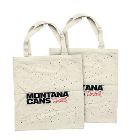 Montana Typo-Logo+Stars Cotton Bag -White
