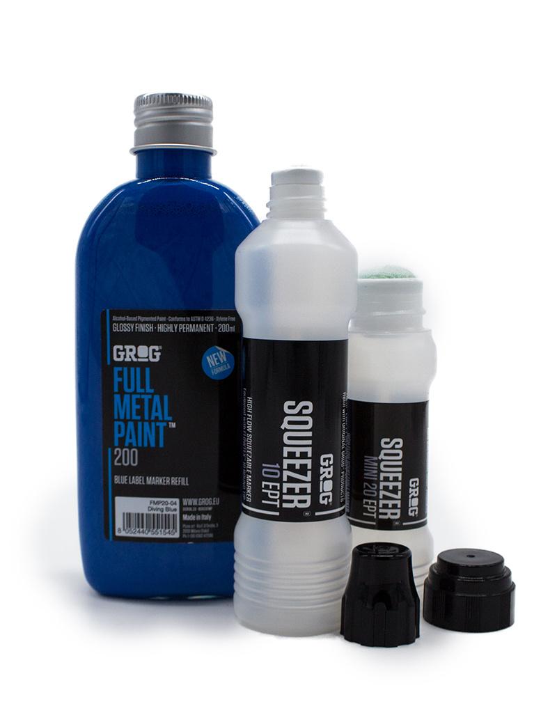 Grog  Full Metal 200 ml Nachfüllfarbe Set blau